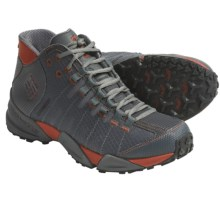 Columbia Sportswear Master of Faster Mid Trail Shoes - Waterproof (For Men) in Dark Shadow/Picante - Closeouts