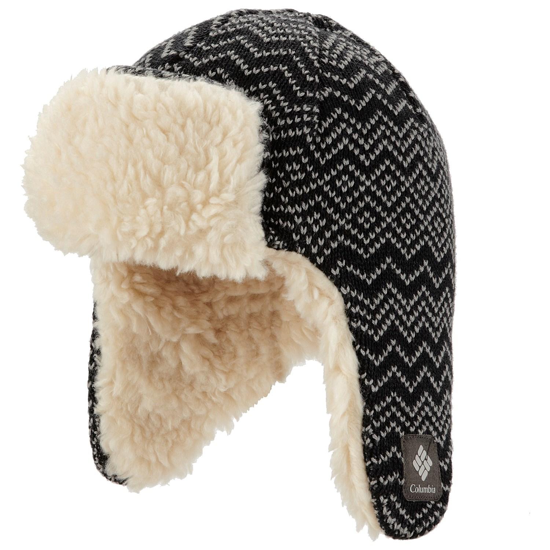 Knitting Pattern For A Beanie With Ear Flaps : Columbia Sportswear Match Ear Flap Omni-Heat  Beanie Hat ...