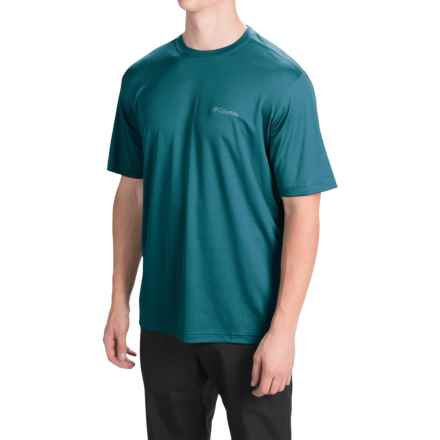 Columbia Sportswear Meeker Peak T-Shirt - UPF 15, Short Sleeve (For Men) in Deep Water - Closeouts