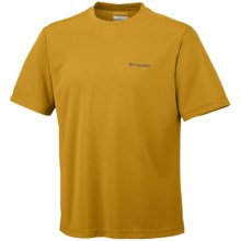 Columbia Sportswear Meeker Peak T-Shirt - UPF 15, Short Sleeve (For Men) in Gold Leaf - Closeouts