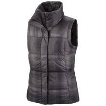 Columbia Sportswear Mercury Maven II Down Vest - 550 Fill Power (For Women) in Black Plaid - Closeouts