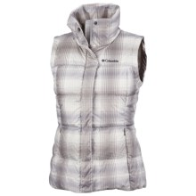 Columbia Sportswear Mercury Maven II Down Vest - 550 Fill Power (For Women) in Ice Grey Plaid - Closeouts