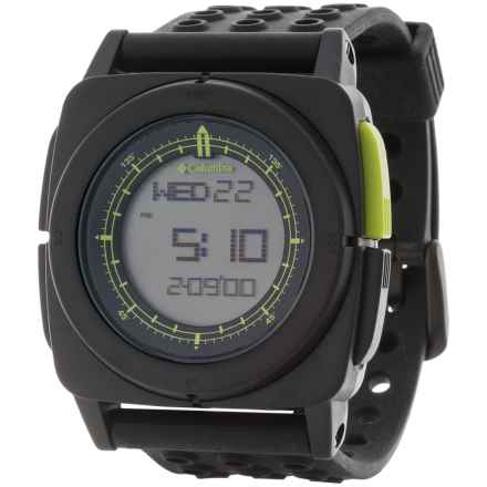 Columbia Sportswear Meridian Watch (For Men) in Black/Black/Neon Green - Closeouts