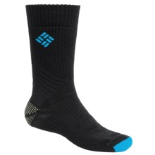 Columbia Sportswear Merino Wool Hiking Socks - Lightweight, Crew (For Men) in Black - Closeouts
