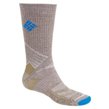 Columbia Sportswear Merino Wool Hiking Socks - Lightweight, Crew (For Men) in Khaki - Closeouts