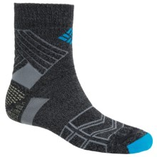Columbia Sportswear Merino Wool Hiking Socks - Lightweight, Quarter-Crew (For Men) in Charcoal - Closeouts