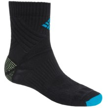 Columbia Sportswear Merino Wool Hiking Socks - Midweight, Quarter-Crew (For Men) in Black - Closeouts