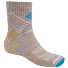 Columbia Sportswear Merino Wool Hiking Socks - Midweight, Quarter-Crew (For Men) in Khaki - Closeouts