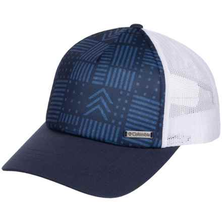 Columbia Sportswear Mesh Baseball Cap (For Men and Women) in Nocturnal/Chevron Patch