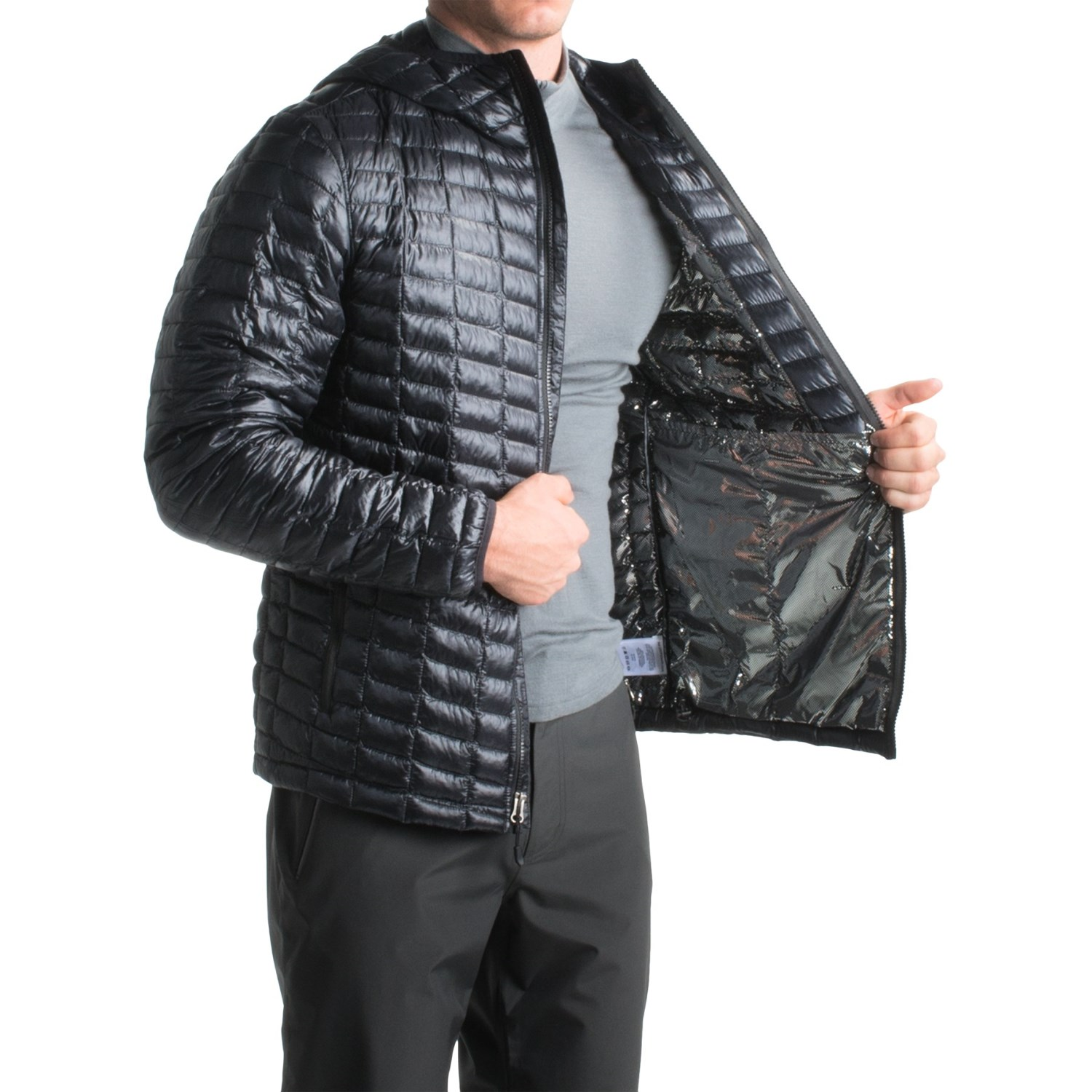 NWT COLUMBIA Men's OMNI-HEAT Microcell Quilted Hooded Jacket H2O ...