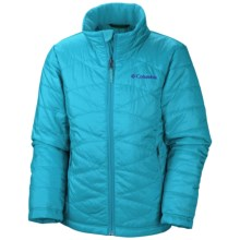 Columbia Sportswear Mighty Lite Omni-Heat® Jacket - Insulated (For Little and Big Girls) in Atoll - Closeouts