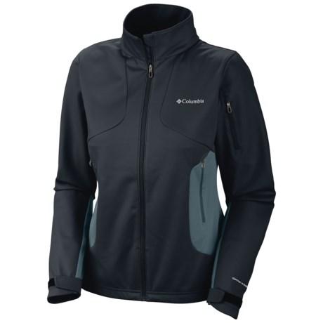 Columbia Sportswear Million Air Soft Shell Jacket (For Women) in Black
