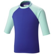 Columbia Sportswear Mini Breaker II Sunguard Shirt - UPF 50, Elbow Sleeve (For Little and Big Kids) in Light Grape/Candy Mint - Closeouts