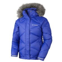 Columbia Sportswear Mini Lay D Down Puffer Omni-Heat® Jacket (For Girls) in Light Grape - Closeouts