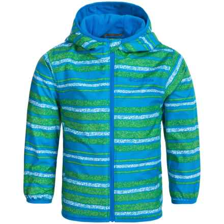 Columbia Sportswear Mini Pixel Grabber 2 Wind Jacket (For Toddlers) in Hyper Blue Stripe - Closeouts