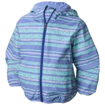Columbia Sportswear Mini Pixel Grabber 2 Wind Jacket (For Toddlers) in Pale Purple Stripe - Closeouts