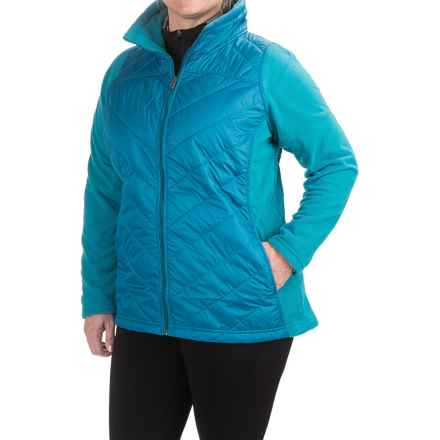 Columbia Sportswear Mix It Around Jacket - Insulated (For Plus Size Women) in Deep Marine - Closeouts