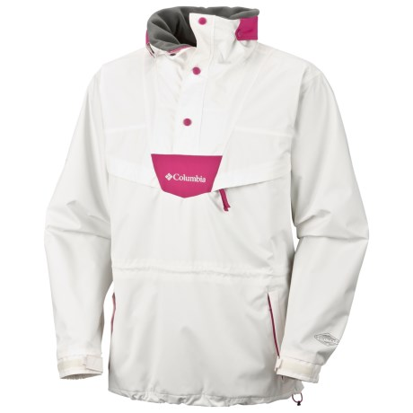 Columbia Sportswear Monashee Pullover Jacket - Waterproof (For Men) in Sea Salt/Fuchsia