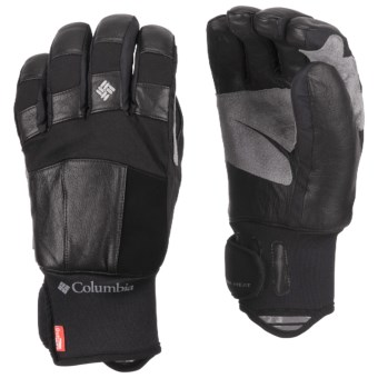 Columbia Sportswear Mountain Monster Short Omni-Heat® Gloves - Waterproof (For Men) in Black