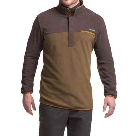 Columbia Sportswear Mountain Side Fleece Shirt - Snap Neck, Long Sleeve (For Big Men) in Delta Heather/New Cinder Heather - Closeouts