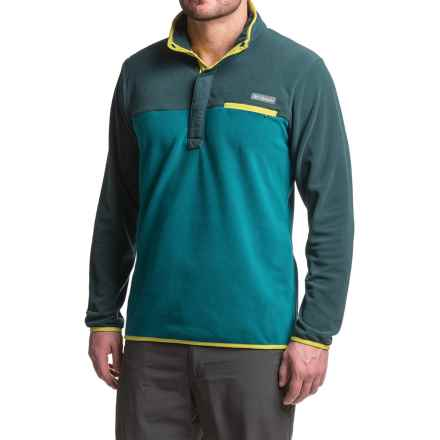 Columbia Sportswear Mountain Side Fleece Shirt - Snap Neck, Long Sleeve (For Men) in Deep Water/Night Shadow - Closeouts