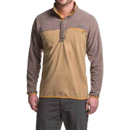 Columbia Sportswear Mountain Side Fleece Shirt - Snap Neck, Long Sleeve (For Men) in Delta Heather/New Cinder Heather - Closeouts