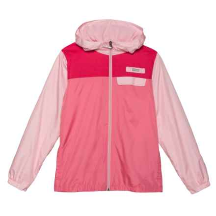 Columbia Sportswear Mountain Side Lined Windbreaker (For Little and Big Kids) in Cherry Blossom, Lollipop