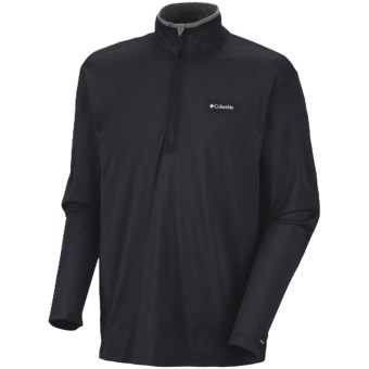 Columbia Sportswear Mountain Tech Shirt - UPF 15, Zip Neck, Long Sleeve (For Men) in Black