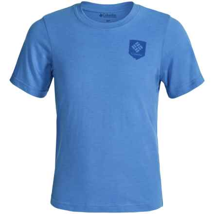 Columbia Sportswear National Parks T-Shirt - Short Sleeve (For Big Kids) in Harbor Blue Heather - Closeouts