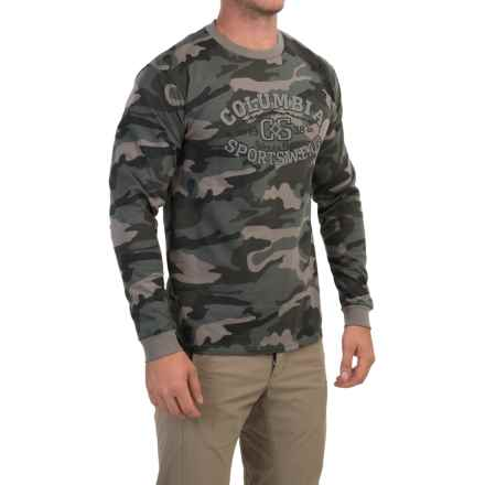 Columbia Sportswear Natural Outdoors T-Shirt - Long Sleeve (For Men) in Charcoal Camo - Closeouts