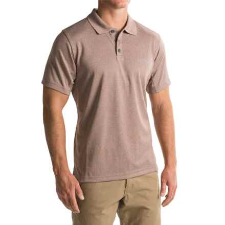 Columbia Sportswear New Utilizer Polo Shirt - UPF 30, Short Sleeve (For Men) in Deep Rust Heather - Closeouts