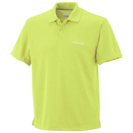 Columbia Sportswear New Utilizer Polo Shirt - UPF 30, Short Sleeve (For Tall Men) in Neon Light