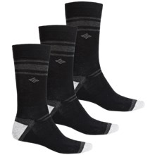 Columbia Sportswear Nonslip Socks - 3-Pack, Crew (For Men) in Black - Closeouts