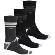 Columbia Sportswear Nonslip Socks - 3-Pack, Crew (For Men) in Charcoal/Black - Closeouts