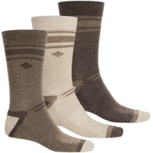 Columbia Sportswear Nonslip Socks - 3-Pack, Crew (For Men) in Khaki/Brown - Closeouts