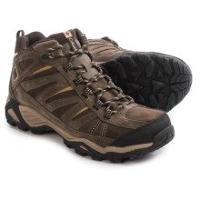 Columbia Sportswear North Plains Mid Leather Hiking Boots - Waterproof (For Men) in Cordovan/Prairie Sand - Closeouts