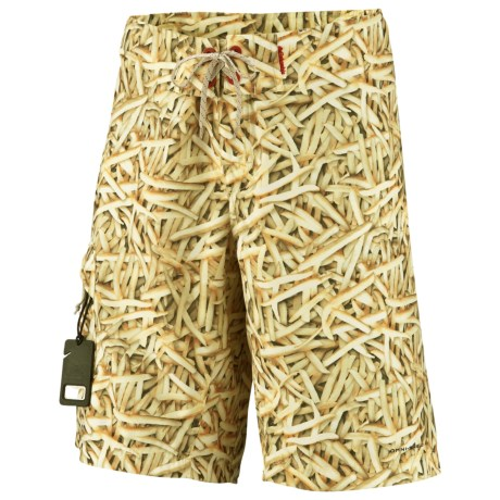 Columbia Sportswear Offshore Run and Gun Board Shorts - UPF 30 (For Men) in Fossil/Freedom Fries