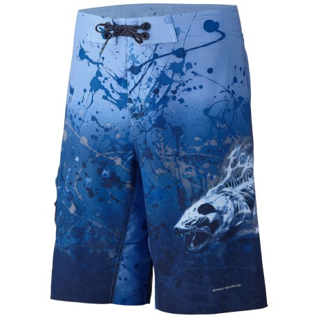 Columbia Sportswear Offshore Run and Gun Board Shorts - UPF 30 (For Men) in Vivid Blue/Skullfire Print