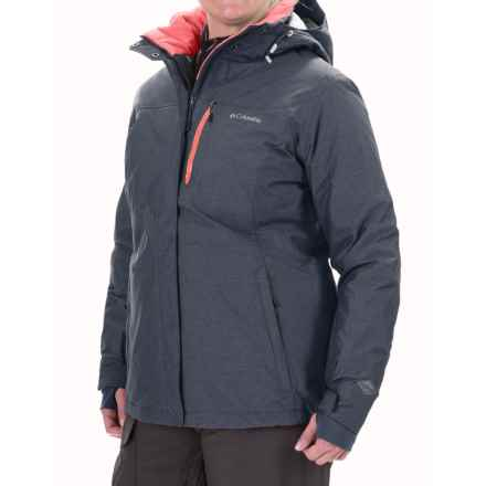 Columbia Sportswear Omni-Heat® Alpine Action Ski Jacket - Waterproof, Insulated (For Plus Size Women) in Nocturnal/Hot Coral - Closeouts