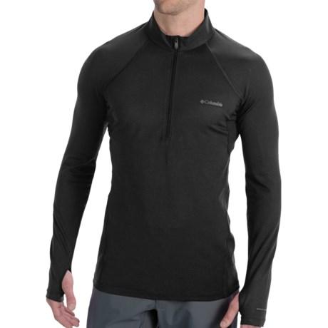 Columbia Sportswear Omni-Heat® Base Layer Top - Heavyweight, Zip Neck, Long Sleeve (For Men) in Black