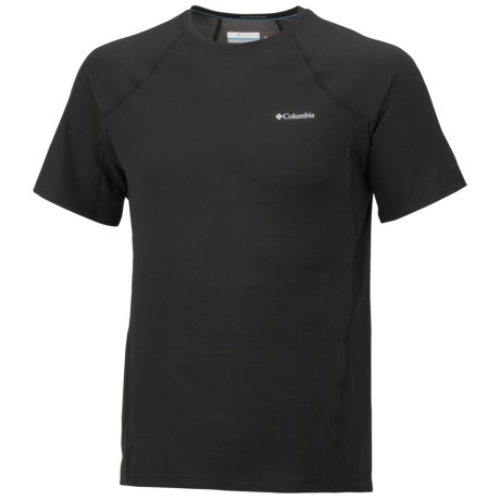 Columbia Sportswear Omni-Heat® Base Layer Top - Midweight, Short Sleeve (For Men) in Black