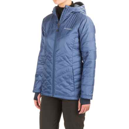 Columbia Sportswear Omni-Heat® Mighty Lite Hooded Plush Jacket - Insulated (For Women) in Bluebell - Closeouts