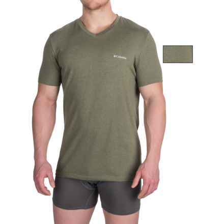Columbia Sportswear Omni-Wick® V-Neck T-Shirts - 2-Pack, Short Sleeve (For Men) in Dusty Olive - Closeouts