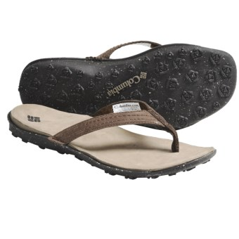 Columbia Sportswear Orla Flip Sandals - Leather (For Women) in Chestnut