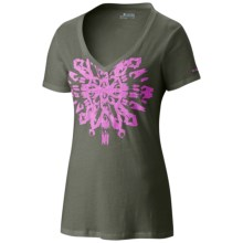 Columbia Sportswear Out and About Graphic T-Shirt - V-Neck, Short Sleeve (For Women) in Cypress - Closeouts
