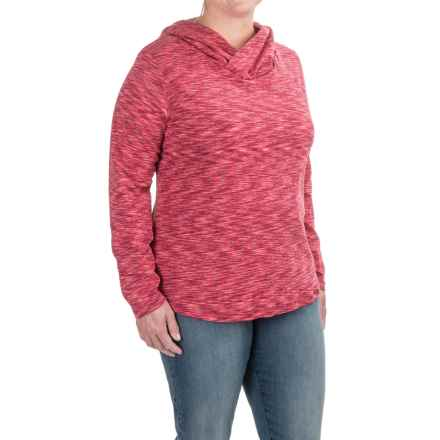 Columbia Sportswear Outerspaced Hoodie Shirt - Long Sleeve (For Plus Size Women) in Red Orchid - Closeouts