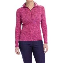 Columbia Sportswear Outerspaced Shirt - Zip Neck, Long Sleeve (For Women) in Dark Raspberry - Closeouts