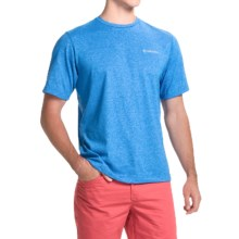 Columbia Sportswear Pacific Ridge Omni-Wick® T-Shirt - UPF 15+, Short Sleeve (For Men) in Super Blue Heather - Closeouts