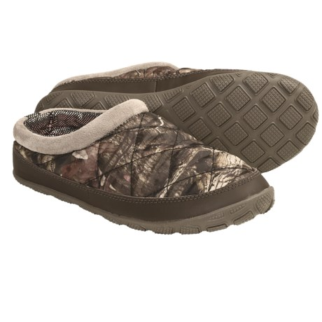Columbia Sportswear Packed Out Omni-Heat® Camo Slippers (For Women) in Tusk/Coral Pink