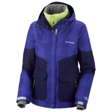 Columbia Sportswear Parallel Peak Omni-Heat® Interchange Jacket - 3-in-1 (For Women) in Light Grape Lumberjack Plaid - Closeouts